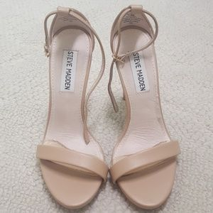 Steve Madden Nude Leather Heels